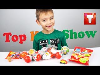 Открываем много киндеров и чупа-чупс! Kinder Surprise на русском. Kinder Show.