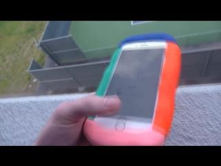 Экспериментатор. Сможет ли пластилин защитить iPhone 6S от падения  с 30 метров