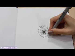 DIY- Рисую МАНДАЛА ● Мой новый скетчбук ● Doodle, Zentangle MANDALA