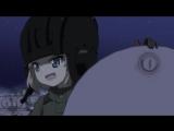 «Девочки и танки» - аниме - вырезанная сцена с исполнением песни «Катюша» персонажами из команды школы «Правда»