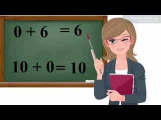 Урок 33 Математика 1 клас. Додавання 0 і до 0. Віднімання 0 і рівних чисел