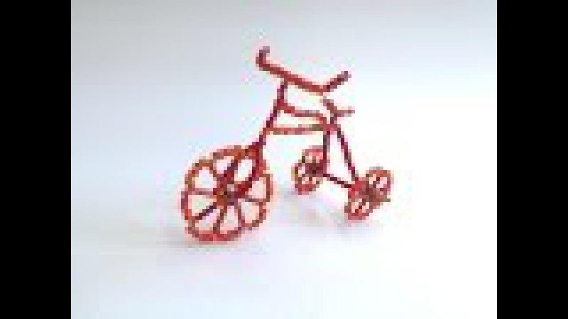 ВЕЛОСИПЕД из БИСЕРА. СУВЕНИР. Tutorial: Beaded cycle