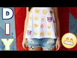 ? ? ? EMOJI Shirt Do it yourself - Tutorial - English subtitle! ? ? ? DIY Shirt - Cali Kessy