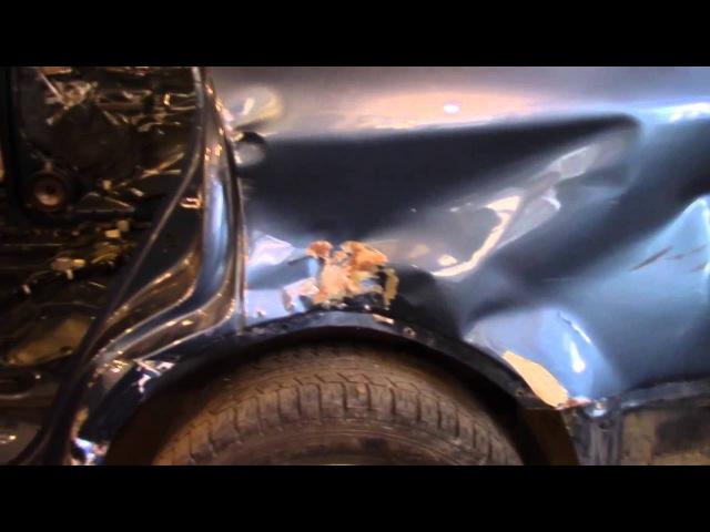 Кузовной ремонт. Субару Трибека, обзор повреждений. Body repair.
