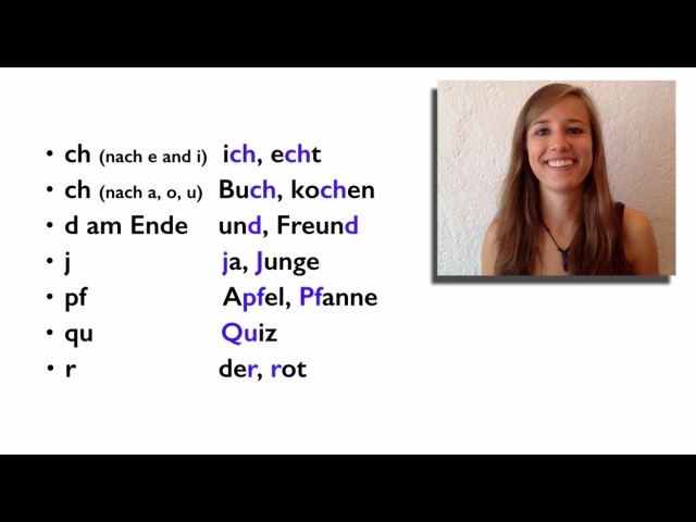 GERMAN PRONUNCIATION 8 How to Pronounce DIFFICULT GERMAN CONSONANTS 😇😇😇