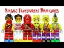 Ninjago 2015 Transparent LEGO KnockOff Minifigures Review Set 16