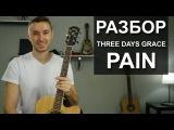 Как играть THREE DAYS GRACE - PAIN на гитаре (Разбор, видео урок)