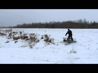 самодельный снегоход с двигателем бензопилы урал