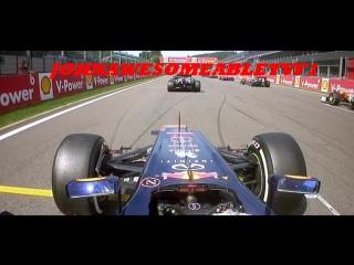 Авария на старте Гран-При Бельгии 2012
