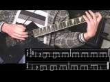 artesguitars tutorial the guitar riffs of CC Hell March TAB
