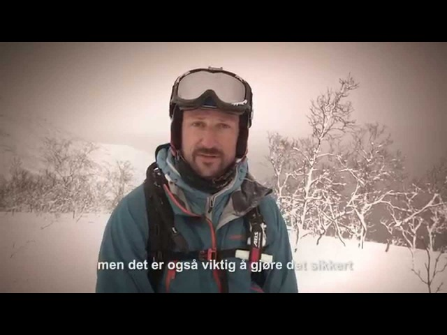 H K H Kronprins Haakon gode råd for å ferdes sikkert i fjellet snøskredvarslingen