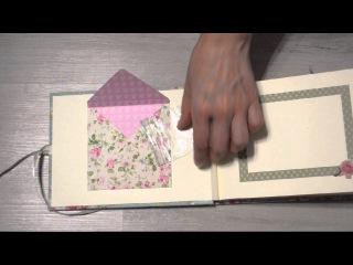 Фотоальбом скрапбукинг с чистыми листами в прошитом переплете / Видео обзор скрап-альбома