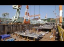 AIDAprima Cruise Ship Construction Christening in 4K by MK timelapse
