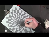 Drawing a Hole Illusion, 3D Trick Art