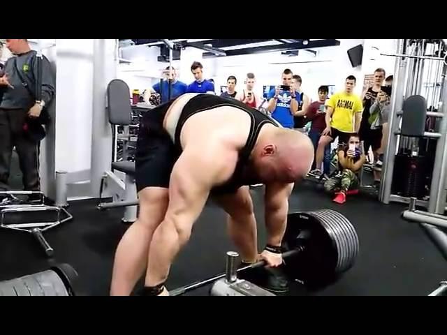 Петр Петраш (Словакия) , становая тяга без экипировки - 410 кг !