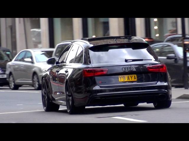 Audi RS6 w Miltek Exhaust in London LOUD Revs Accelerations