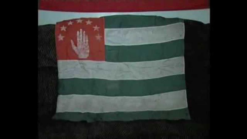 Georgians capture Chechen, Cossack, Apsua flag in Abkhazia 1993