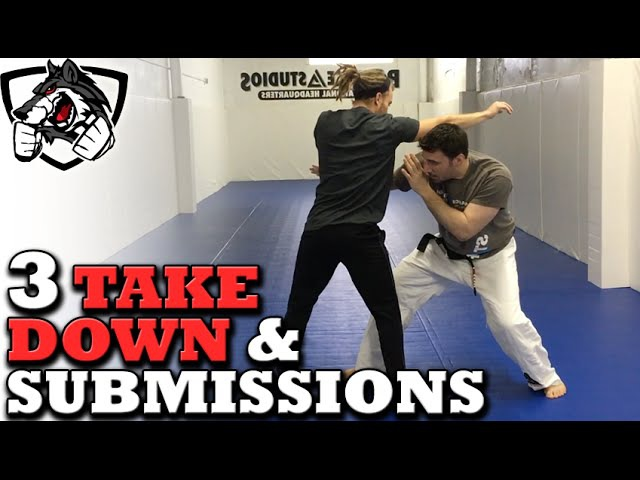 Grappling vs Striking 3 BJJ Takedowns Submissions