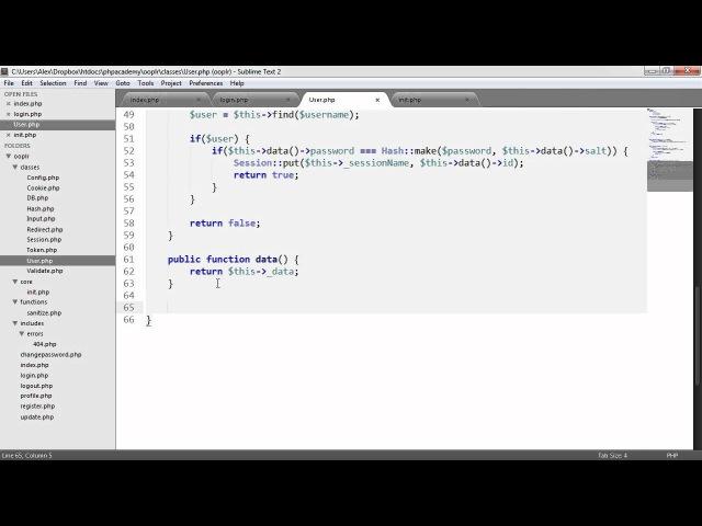 PHP OOP Login/Register System: Checking Signed In (Part 17/23)