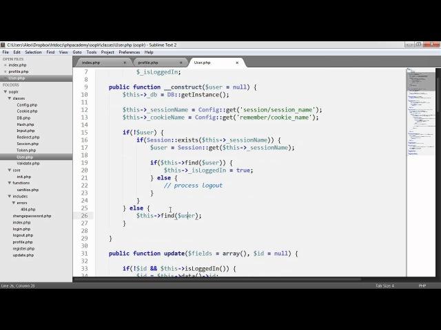 PHP OOP Login/Register System: User Profiles (Part 23/23)