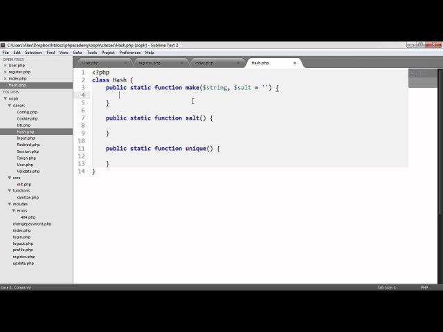 PHP OOP Login/Register System: Registering Users (Part 14/23)