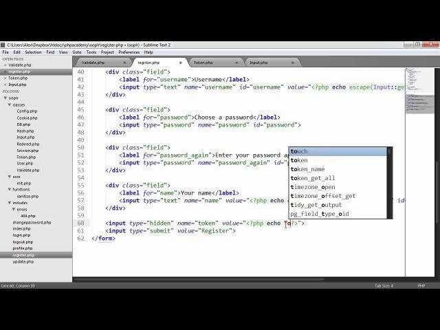 PHP OOP Login/Register System: CSRF Protection (Part 12/23)