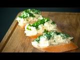 Бутерброды с еврейским салатом из плавленых сырков, яиц и чеснока. Простые рецепты от wowfood.club