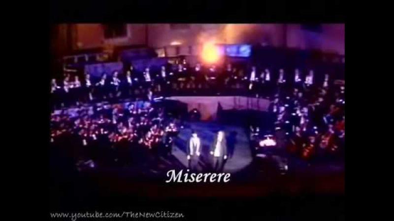 Andrea Bocelli Zucchero Fornaciari - Miserere (Live) (English lyrics translation)