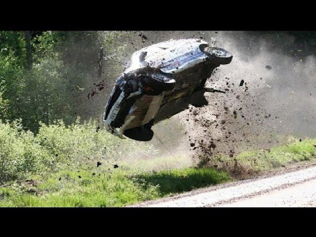 Аварии на ралли 6 WRC. Раллийные автомобили в хлам. (Подборка раллийных аварий на авто гонках)