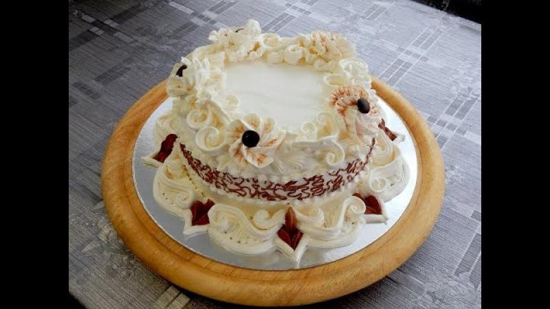 УКРАШЕНИЕ ТОРТОВ- Торт Элегантность. Cake decoration