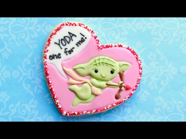 Yoda one for me - Star Wars Valentine's Treat - How to make a Valentine's cookie