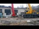 Кран Либхер. Монтаж трубы 44 метра