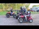 Прикол! Дети на квадроциклах едут с ГАИ по дороге! Минск!