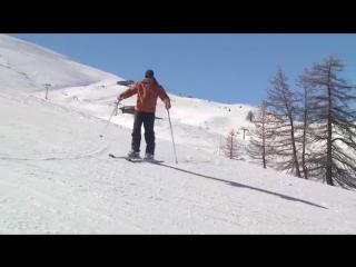 Урок 14 - Траверс на кантах горных лыж