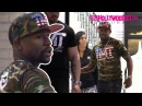 Floyd Mayweather His TMT Entourage Go Shopping At Barneys New York In Beverly Hills