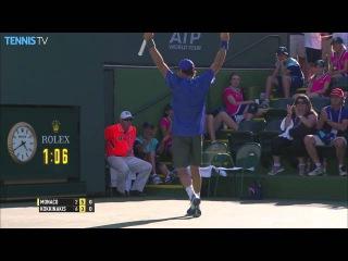 Juan Monaco 'Tweener Hot Shot Indian Wells 2015 vs. Kokkinakis