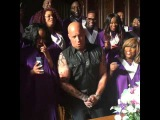 Vin Diesel sings OH HAPPY DAY in a church between xXx and Fast 8 2016