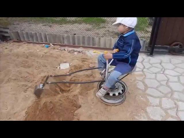 Детский экскаватор своими руками