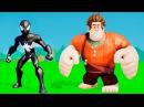 Мультик игра для детей Чёрный Человек Паук, и Ральф играют с машинками ТАЧКИ Дисней Spider Man CARS