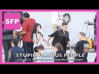 Justin Bieber making a music video for Boyfriend, Selena Gomez Visits Him!