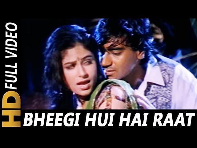 Bheegi Hui Hai Raat Magar Kumar Sanu Kavita Krishnamurthy Sangram 1993 Rain Song Ajay Devgan