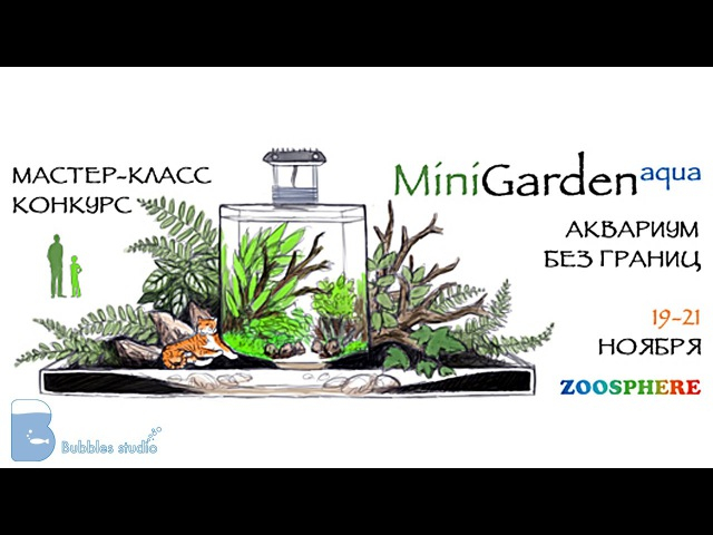 Зоосфера 2015 Конкурс мастер класс Mini Garden aqua Competition a master class Mini Garden aqua