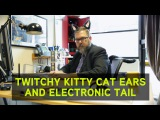 Twitchy Kitty Cat Ears and Electronic Tail from ThinkGeek