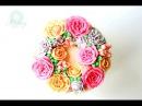 How to Make a Buttercream Flower Wreath Cake!