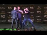 Пацанские разборки между Конором Макгрегором и Нейтом Диазом на Дуэли Взглядов перед UFC 196: Макгрегор против Диаза