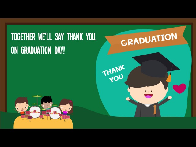 Thank You Teachers Song for Kids | Kindergarten Graduation Songs for Children | The Kiboomers