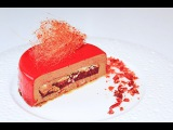 Шоколадный муссовый торт с зеркальной глазурью  Chocolate Mousse Cake with Mirror Glaze