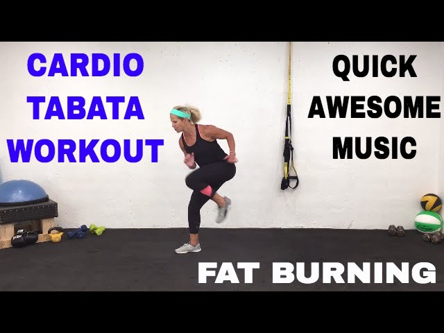 Fat Burning Cardio Tabata Workout, HIIT, Pure Cardio Quickie Workout