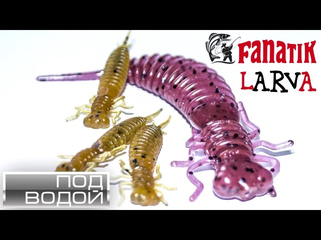 съедобная резина Fanatik Larva под водой