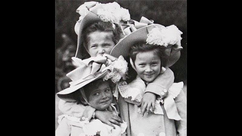 The Romanov children smiling